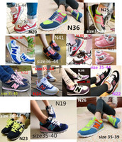 Wholesale 2014 shipping women men s South Korea Joker shoes N letters breathable running shoes sneakers canvas Casual shoes shoe