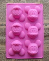 Wholesale Mickey Mouse Silicone Cake Mold Cupcake Pan Soap