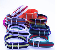 Wholesale High quality MM Nylon Watch band NATO waterproof watch strap colorful fashion wach band NATO strap NEW407