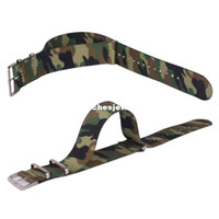 camouflage fabric - New Army Military Nato Nylon Watch mm Camouflage fabric Woven watchbands Strap Band Buckle belt mm accessories407