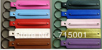 Wholesale Hot MIx color PU Leather Key Chain can through mm or mm slide charms