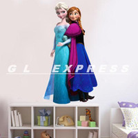 Wholesale Best Price Movie FROZEN Elsa Anna Wall Stickers Decal Removable Art Decor Home Kids Mural