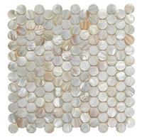 wall cladding - Wall mounted mesh mosaic tile shell mosaico tile wall decoration mother of pearl tiles oyster mosaic wall cladding tiles penny round mosaic