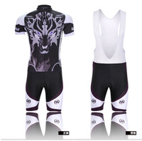 Wholesale Ghost Wolf Cycling Jerseys Men Short Sleeve Tights Zip Cycling Wear Clothing Lycra Polyester Bicycle Suits Bike Anti UV Sport Outfit AMY07