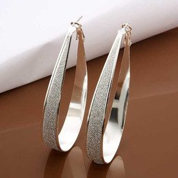 Wholesale Newest Christmas Gift mm Big hoop sterling Silver hoop earring big U shaped fashion jewelry fit women for gift