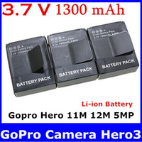Wholesale Digital Boy AHDBT AHDBT AHDBT301 AHDBT AHDBT Li ion Battery for GoPro Camera Hero3 M M MP new top sale free