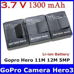 Wholesale Digital Boy AHDBT AHDBT AHDBT301 AHDBT AHDBT Li ion Battery for GoPro Camera Hero3 M M MP new top sale free