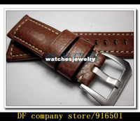 Wholesale PAM Handmade Custom Watch Band mm Leather Strap Brown Men Watch Band For Panerai407