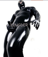 latex - Rubber Latex Gummi Fetish Catsuit Body Suit Vest With Open Crotch Costumes M L XL