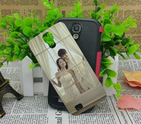 For Samsung Leather White For samsung galaxy S4 i9500 Blank sublimation leather case with metal aluminium plate. free shipping DHL or FEDEX