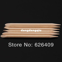 Wholesale Nail Art Orange Wood Stick Cuticle Pusher Remover Pedicure Manicure Tool