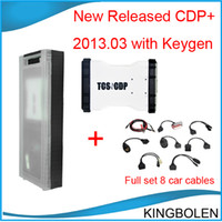 Wholesale 2014 New released TCD CDP with software free keygen cdp plus for cars trucks generics with full set car cables