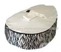 Wholesale baby bean bag ZEBRA WHITE TOP COVER kids beanbag snuggle beds child nursey pods COVER TOPS