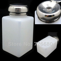 Wholesale Christmas Gifts Nail Art Salon Pump Dispenser Bottle Polish Remover Cleaner Empty Alcohol Container