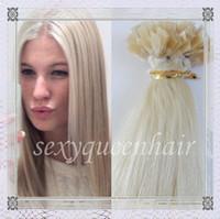 Cheap Indian Hair flat tip hair Best Blonde Straight remy human hair