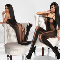 Wholesale Sexy Black Crotchless BodyStocking Bodysuit Teddy Lingerie DH04