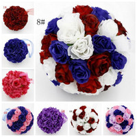 Wholesale Hot inch Rose Flower Kissing Ball Wedding Flowers Decoration style z308