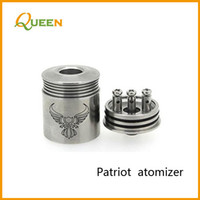 Replaceable stainless steel Queen 22mm Patriot clone mod stainless steel tank rebuildable rba atomizer rda dry herb vaporizer vs chi you king e cigarette with gift box DHL