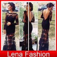 Cheap Reference Images evening gowns Best Portrait Lace evening dresses