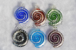 animal snake helix Multi-Color Lampwork Murano Glass Pendants Necklaces Wholesale Retail FREE #pdt91