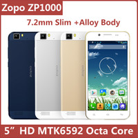 Octa Core Android Lenovo Original Zopo ZP1000 5 Inch HD IPS MTK6592 Octa Core 1GB 16GB Android 4.2 Smart Mobile Cell Phone 7.2mm Slim GPS BT