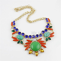Pendant Necklaces Other Other 2014 new fashion trend in Europe and America popular wild alloy sparkling gem diamond pendant necklace female flowers
