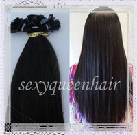 """Indian Hair Blonde Straight Wholesale - Hot selling 5A flat tip hair extensions Indian remy human hair 18"""" 20"""" 22""""24""""26 28""""IN STOCK 300g pack #1B free shipping"""