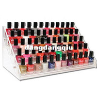Wholesale Hold Bottles Nail Polish Display Rack Acrylic Nail Polish Bottles Holder Nail Salon Equipment Table Nail Rack Free Ship407