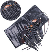 best cosmetic bags - 32 Cosmetic Make up Make Up Makeup Brushes Brush Set Black Pouch Bag H4456 Best Quality DHL