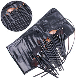 Wholesale 32 Cosmetic Make up Make Up Makeup Brushes Brush Set Black Pouch Bag H4456 Best Quality DHL