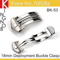 Wholesale mm Watch Buckle Clasp L Stainless Steel Polished Deployment Buckle Clasp Watch Band Butterfly Buckle 407