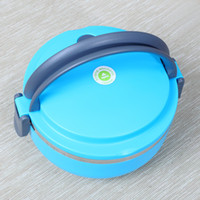 Metal Dinnerware Sets Stainless Steel Free shipping Homio Single Layer Stainless Steel Children Lunch Box 700ML Keep Warm Food Container For Kids #S0186