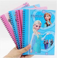 Wholesale Snow and ice colors magic adventures in Snow White snow queen snow treasure coil this note notebook learning stationery