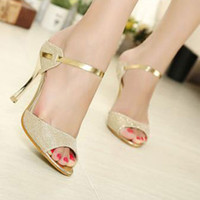 Wholesale New Vogue Sexy Women Peep Toe Pumps Stiletto Sandals High Heel Slipper Shoes