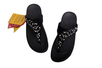 Wholesale CHUNKY Beach Slippers Wedges Women Sandals Flare Ladies Flip Flops Size New Fashion