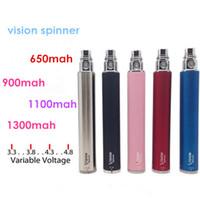 1100mah Adjustable  Big promotion Vision Spinner Ego C twist Variable Voltage Battery Electronic Cigarette 650 900 1100 1300 mah for CE4 CE5S X9 V2 Atomizer