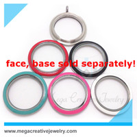 Wholesale 2014 newest L stainless steel colored screw enamel memory glass twist floating living locket mm