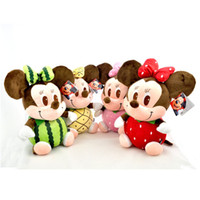 other minnie mouse plush - Fruit Pineapple Watermelon Strawberry Mickey Minnie mouse Plush Toy With a Suction H076S7