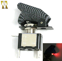 Wholesale carbon fiber LED Light Toggle Ignition Starter Switch With Military Carbon Cover V
