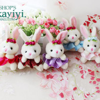 Wholesale Cute plush toy bunny pendant jewelry cute phone chain car key creative birthday gift womanS7