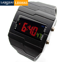 Wholesale Manufacturers supply square LED electronic watches men s fashion PVC plastic sports electronic spreadsheet square meter
