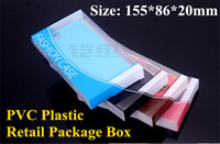 Wholesale Universal Clear PVC Plastic Retail Packaging Package Box For iphone S Samsung S5 S4 Note Sony L36H HTC Model Cell Phone Leather Case