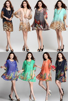 Summer Dress 2015 Sexy Plus Size Women Clothing Leopard Printed
