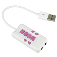 Wholesale Brand New USB Virtual Channel Sound Adapter For Desktop Laptop White D5108B Alishow