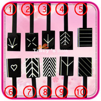 Wholesale Magnetic Polish Tips Sheet Strip Designs Available Nail Art Slice Magnet Metallic Metalic UV Tool407