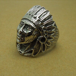Wholesale Ancient Indian chief index finger ring R72
