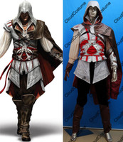 Unisex assassin's creed costume kids - Hot sale Assassin s Creed II Ezio cosplay costume Ezio cosplay uniform video games PS PC Halloween gift for kids