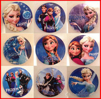 24 Months & Up Unisex Keepsake Tins HOT SALE 2014 New Frozen Cartoon Pin Badge 4.5cm Anna Elsa Princess Olaf Costume Cosplay Boys Girls Toy Fashion Badges