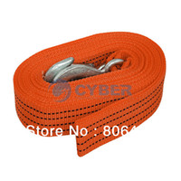 Wholesale 5Tons M Tow Cable Strap Car Towing Rope with Hooks for Heavy Duty Emergency Dropshipping