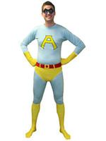 Unisex ace fancy - Saturday Night Live Ace Spandex Superhero Costume Halloween Cosplay Party Zentai Suit